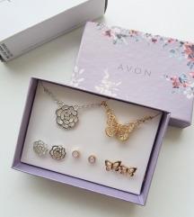 Sarina set - 2 ogrlice, 3 para mindjusa *NOVO*