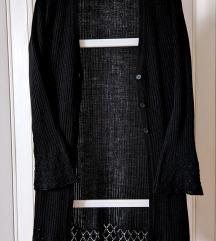 Džemper CRNI dugi, za preko nečega, France
