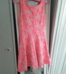 H&M neon roze letnja haljina