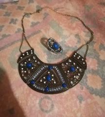 Boho nakit ogrlica i prsten