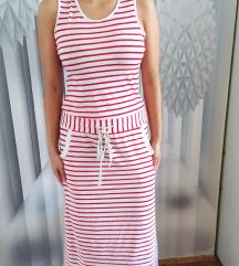 Sportska belo crvena haljina