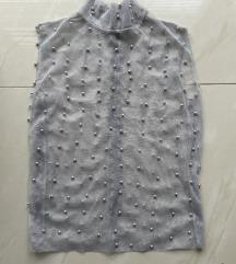 Majica od tila sa biserima