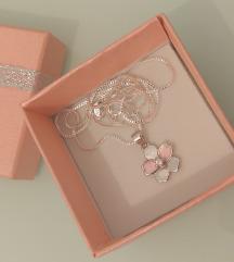 Srebro ogrlica i srebro privezak novo
