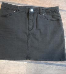 H&m siva teksas suknja