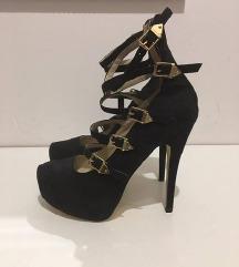 NELLY sandale sa zlatnim snalama- Novo! 24,5 cm