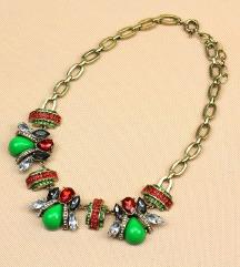 Crveno zelena ogrlica