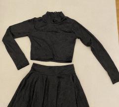 Crni komplet suknja i top rolka