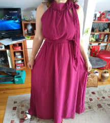 Burgundy MAXI haljina.