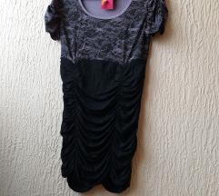 NOVA ljubičasto crna haljina