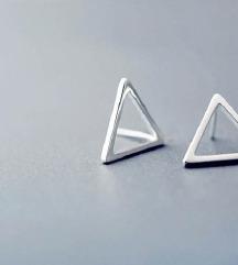 Srebro 925 - minđuše trouglovi