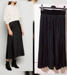 RezzMidi pleated suknja