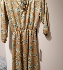 Cvetna svilena haljina