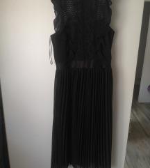 Plisirana haljina sa cipkom