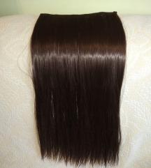 100 % prirodna kosa sa klipsama 60x24cm