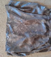 Prelepa suknja SISLEY - 100% svila NOVA