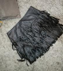 Kozna suknja na rese