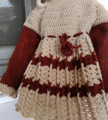 haljinica za bebu 0-3 meseca,novo,rucni rad