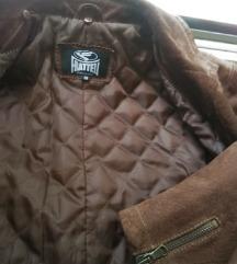 Italijanska kozna braon Fratteli  jakna br.38
