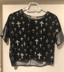 cross print   ✟ 𝖌𝖔𝖙𝖍 ✟   majica