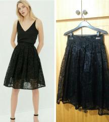 Romanticna crna suknja NOVO