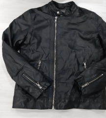 Crna kozna  jakna vel. M - kao nov