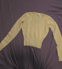 17. Pamučni džemper - pulover V izrez, bež
