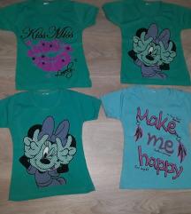Set od 4 majice za devojcice 2/3 god Minie Mouse