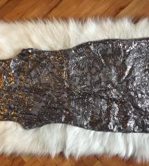 Srebrna haljina sljokice SNIZENA