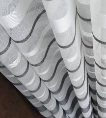 Belo siva zavesa 2m širina