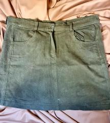 Maslinasto zelena mini suknja