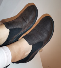 Kožne braon clarks cipele