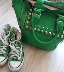 Convers starke i zelena torba