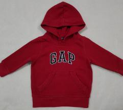 GAP original crveni duks za bebe sa kapuljacom