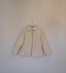 Štepana krem bela jakna