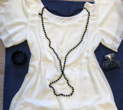 Bela bluza sa mis rukavima S - M