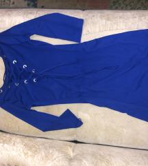 plava  balmain haljina