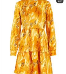 Zlatno ZUTA sarena haljina NOVA