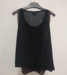 Topshop crna bluza sa sljokicama 36/38