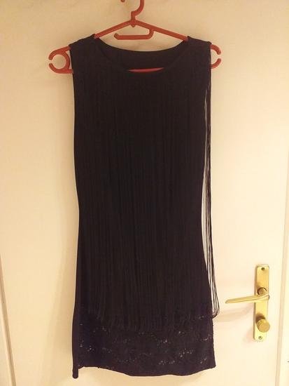 Prelepa crna haljina na rese kao nova S/M