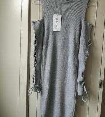 Siva uska haljina- Novo S/M