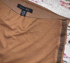 Krem/braon uska suknja
