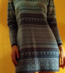 Plava tribal haljina/tunika