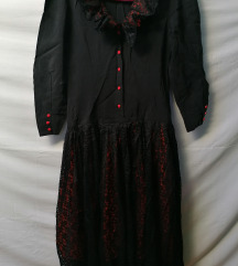 LAGOTE vintage, gothic duza haljina vel.XL