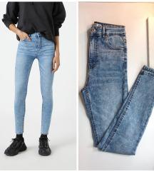 rezzPull&Bear Skinny High Waist Jeans XS-S