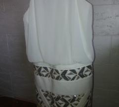 Bela kratka haljina kao nova