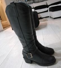 Čizme od prave kože 37 i 37,5 za širok list