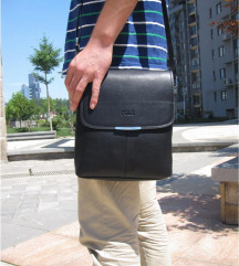 Muške POLO crne kožne torbe/2 vrste