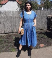 Prelepa teksas haljina, pun krug L/XL