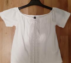 H&M Bela boho majica sa tvrtkama XS