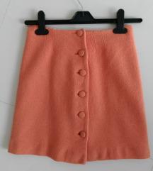 Koralna suknja - prava vuna S/34